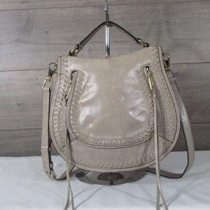 Rebecca Minkoff Vanity Mushroom Leather Saddle Bag